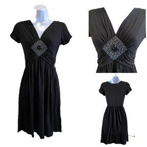 NEW! Gilli Black embellished jersey dress M